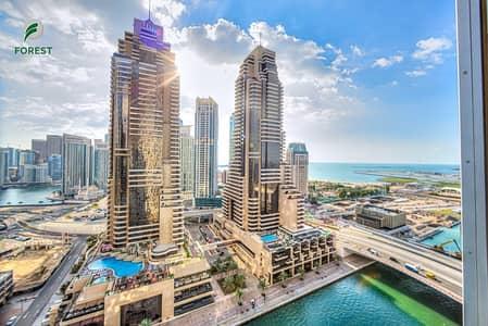 2 Bedroom Flat for Rent in Dubai Marina, Dubai - Dishwasher Installed  | Spacious 2BR |Marina View