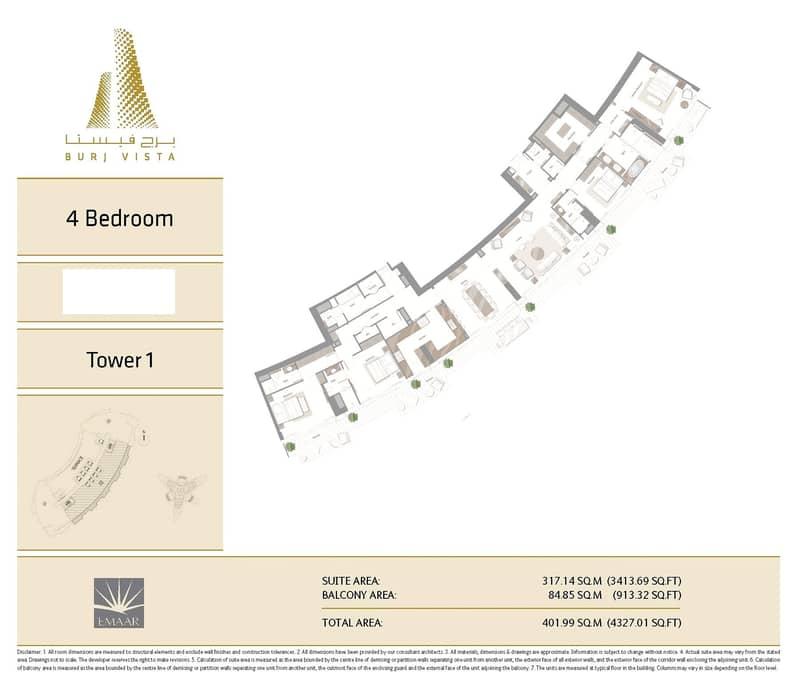 10 4 Bed Pent House   Full Burj Khalifa View
