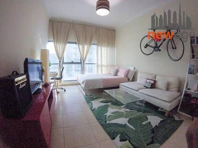 استوديو  للايجار في دبي مارينا، دبي - Unfurnished Studio For Rent in Zumurud Tower