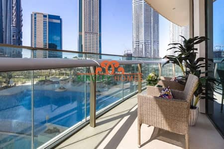 2 Bedroom Apartment for Rent in Downtown Dubai, Dubai - Fully Furnished|Pool View| Low Floor