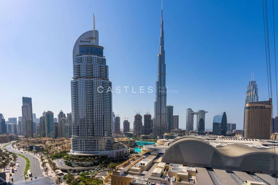 Full Burj Khalifa View- 2 bed+study