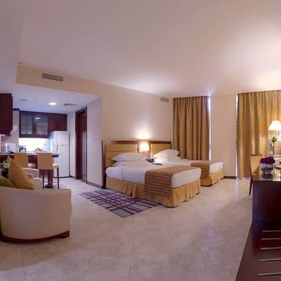 1 Bedroom Apartment for Rent in Tourist Club Area (TCA), Abu Dhabi - FULLY FURNISHED ONE BEDROOM APARTMENT - TOURIST CLUB