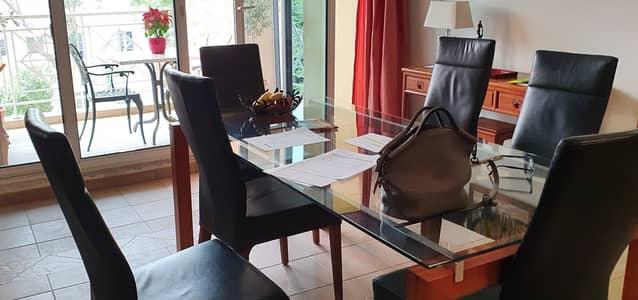 فلیٹ 2 غرفة نوم للبيع في جرين كوميونيتي، دبي - Spacious Dining with view on Garden