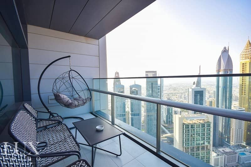 DIFC Specialist|Exclusive|Two Balconies|Sea View