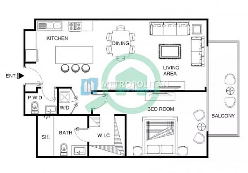 16 Luxury Finishing /Park View/Spacious Design Layout