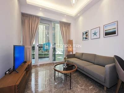 فلیٹ 1 غرفة نوم للايجار في دبي مارينا، دبي - Luxury Furniture Stunning Marina View Middle Floor