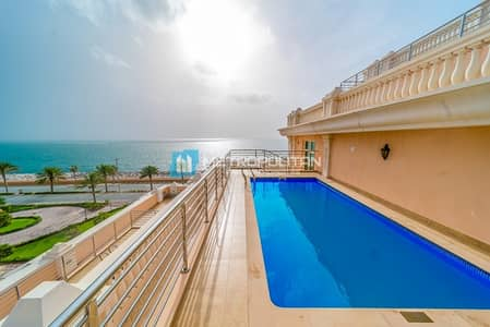 3 Bedroom Apartment for Sale in Palm Jumeirah, Dubai - Corner Unit | Large Terrace with Swimming Pool |