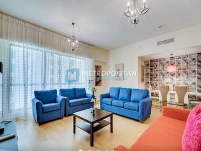 2 Bedroom Apartment for Sale in Jumeirah Beach Residence (JBR), Dubai - Fully Furnished 2 Beds Upgraded with wooden Floor
