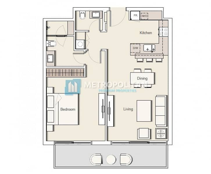 19 1 bed/Corner Unit/Large Living Space/Vacant Now