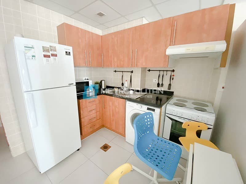 2 Fully Furnished studio/Middle floor/Marina view