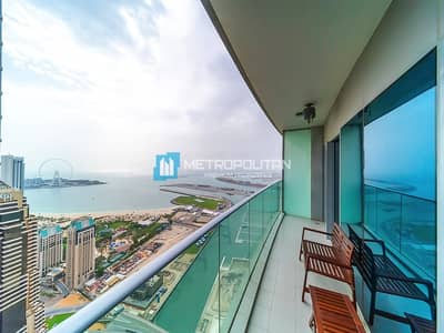 1 Bedroom Apartment for Rent in Dubai Marina, Dubai - Unobstructed sea view I Fully furnished I Ready