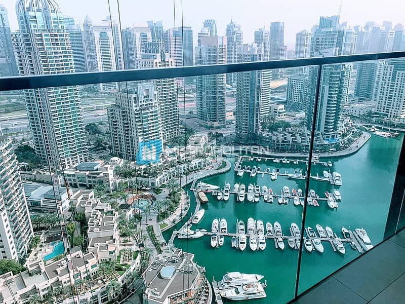 2 Fully furnished/Full Marina View/High Floor/Vacant
