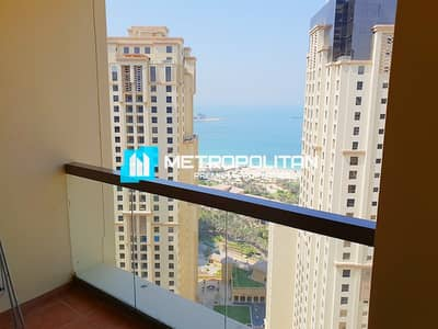 فلیٹ 3 غرف نوم للايجار في جميرا بيتش ريزيدنس، دبي - Fully Furnished 3 bedrooms I  Balcony w/ Sea view