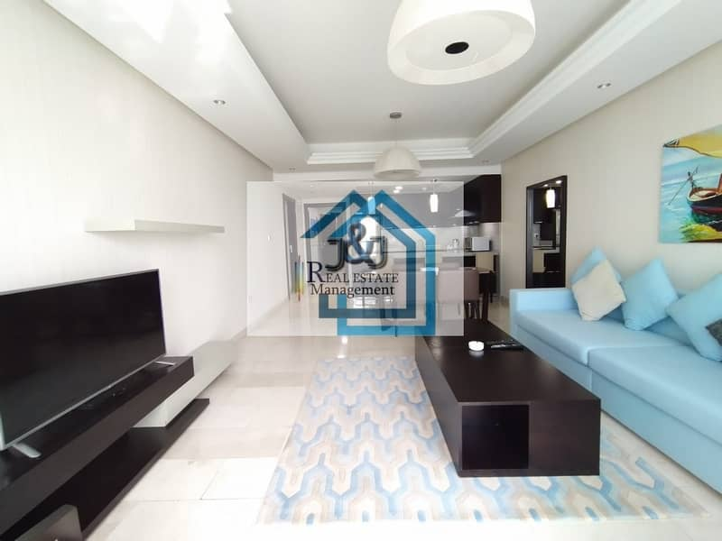 Stylish Fully Furnished 2 Bedroom Apartment with Corniche Views