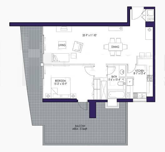 10 Rented | Large Terrace | Cash Seller | 1BR