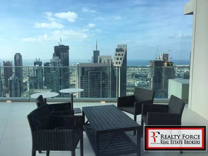 10 PANORAMIC VIEW |FURNISHED|ONE OF A KIND PENTHOUSE