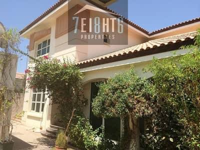 5 b/r modern design compound villa + maids room + s/pool + gym + sauna + landscaped garden for rent in Al Safa 1