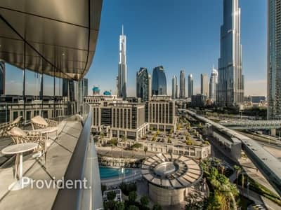 2 Bedroom Apartment for Rent in Downtown Dubai, Dubai - Burj Khalifa View | Fully Furnished and Serviced
