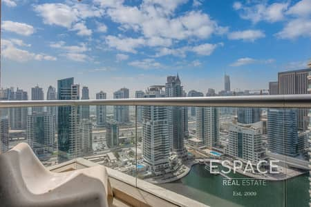 شقة 1 غرفة نوم للايجار في دبي مارينا، دبي - Full Marina View | Unfurnished | Parki Island