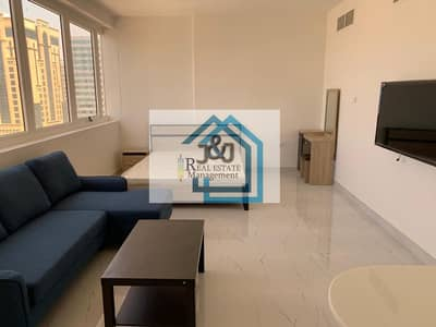 Studio for Rent in Al Khalidiyah, Abu Dhabi - Hot Deal !!! Studio Furnished Water and Electricity Including Monthly Cornich Khalidiyah