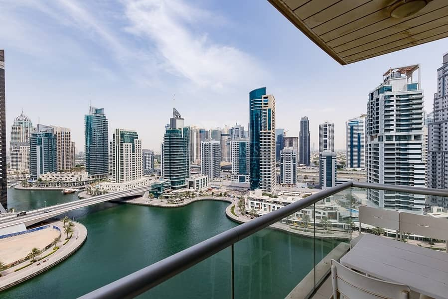 Modern Furnished 1 Bed | Chiller Free |Marina View