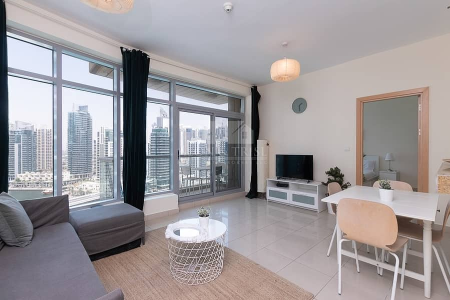 2 Modern Furnished 1 Bed | Chiller Free |Marina View