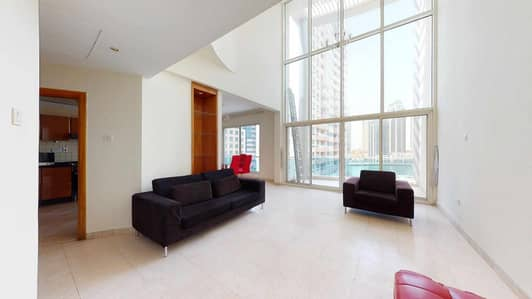 3 Bedroom Flat for Rent in Dubai Marina, Dubai - Massive duplex | Partial Marina view | Near metro