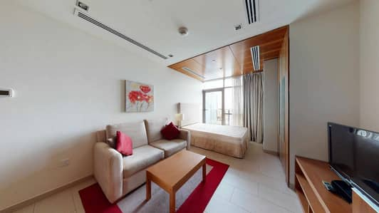 Studio for Rent in Dubai Sports City, Dubai - Executive studio    Canal views   Fully furnished