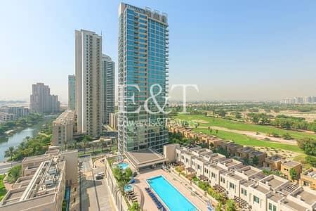 فلیٹ 1 غرفة نوم للايجار في ذا فيوز، دبي - Superb One Bed Plus Study With Golf Course View
