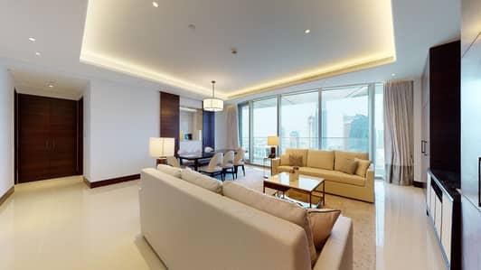 شقة فندقية 3 غرف نوم للايجار في وسط مدينة دبي، دبي - Hotel Apartment   Infinity Pool   Contactless tours