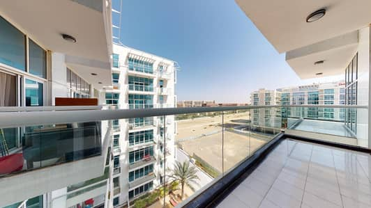 3 Bedroom Flat for Rent in Dubai Studio City, Dubai - Kitchen appliances | Balcony | Visit with your phone