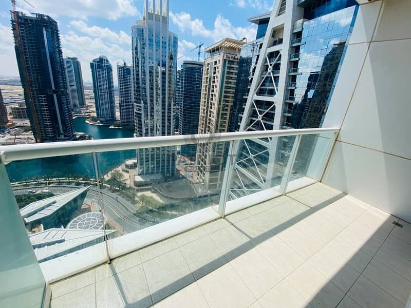 12 Breath taking view fully furnished Studio front of JLT Metro.