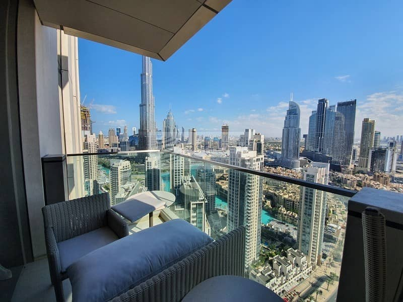 Brand New 3 BR+Maid | Fully Furnished | High Floor