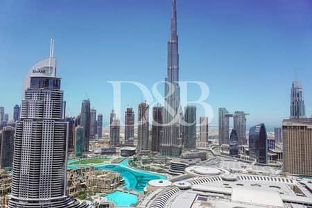 2 Bedroom Flat for Sale in Downtown Dubai, Dubai - High Floor | Full Burj Khalifa View | Resale
