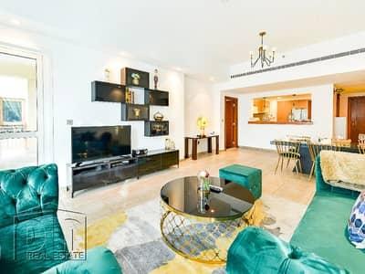 فلیٹ 2 غرفة نوم للايجار في نخلة جميرا، دبي - Full Sea Views / Fully Furnished