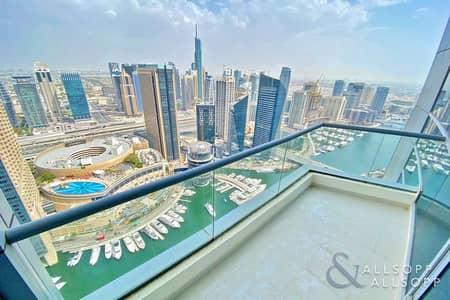 3 Bedroom Apartment for Sale in Dubai Marina, Dubai - Full Marina View | 3 Beds | Glass Balcony