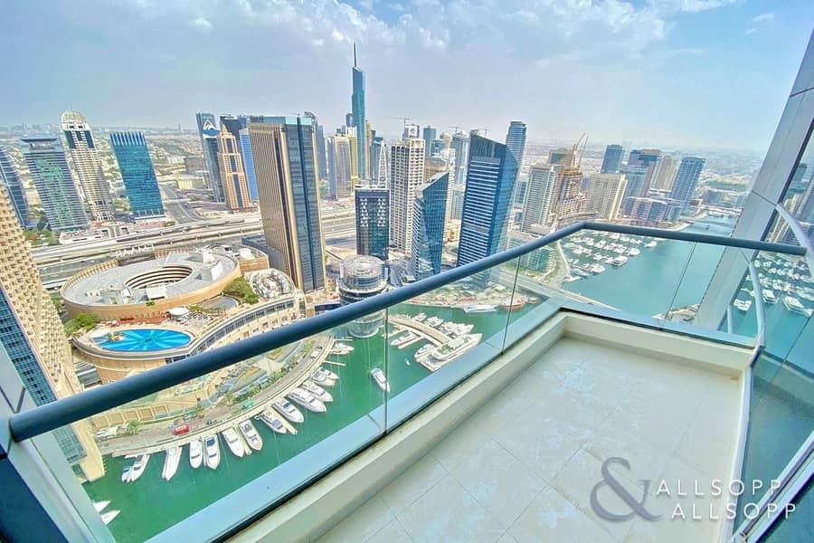 Full Marina View | 3 Beds | Glass Balcony