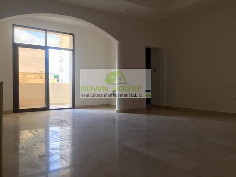 Huge 1- bedroom hall with balcony in Khlifa city A .