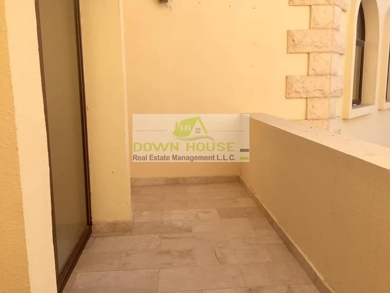2 Huge 1- bedroom hall with balcony in Khlifa city A .