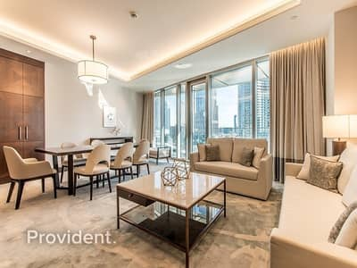 2 Bedroom Apartment for Rent in Downtown Dubai, Dubai - Elegantly Furnished | Vacant | Burj Khalifa View