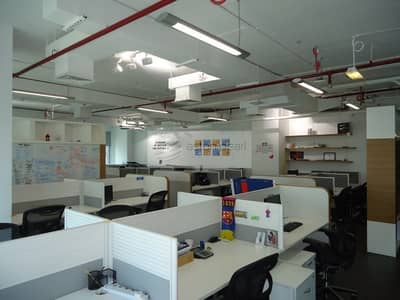 Office for Sale in Barsha Heights (Tecom), Dubai - Fully Fitted Office| Glass Partitions| High Floor