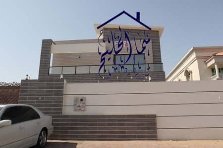 5 Bedroom Villa for Sale in Al Rawda, Ajman - Villa for sale without down payment, personal building, super deluxe close to Sheikh Ammar Street