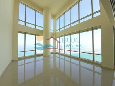 فلیٹ 3 غرف نوم للايجار في منطقة الكورنيش، أبوظبي - No Commission! Fully Sea View Duplex 3 M/BR Nation Tower