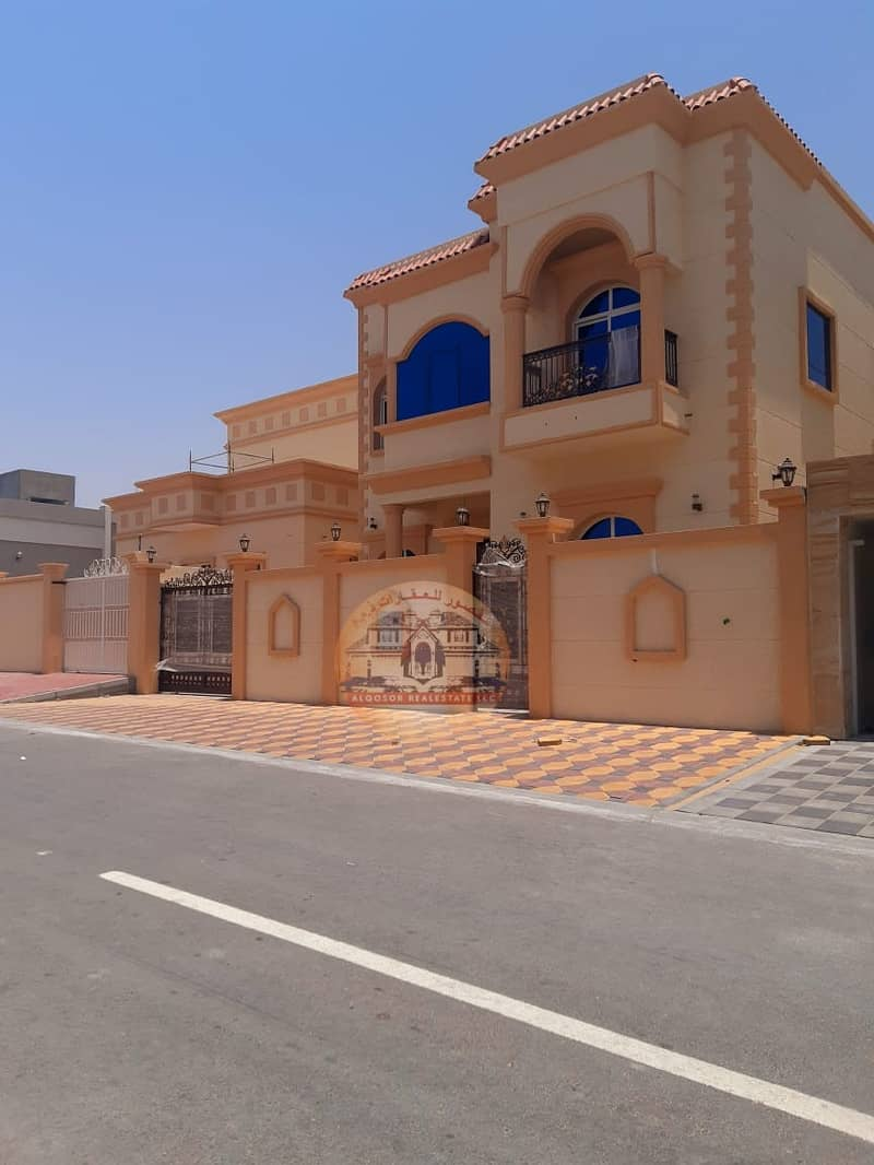 Villa for sale in Ajman, Jasmine, directly on Ja Street, close to services, with the possibility of bank financing
