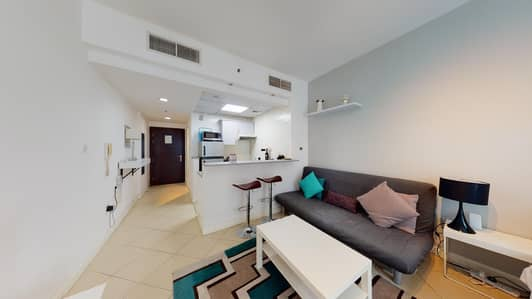 استوديو  للايجار في دبي مارينا، دبي - Fully furnished studio   Partial Marina views   Pay monthly