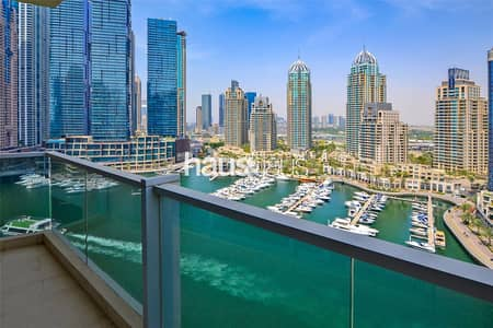 3 Bedroom Apartment for Rent in Dubai Marina, Dubai - 3BR + Maids| Panoramic Water Views| Largest Layout