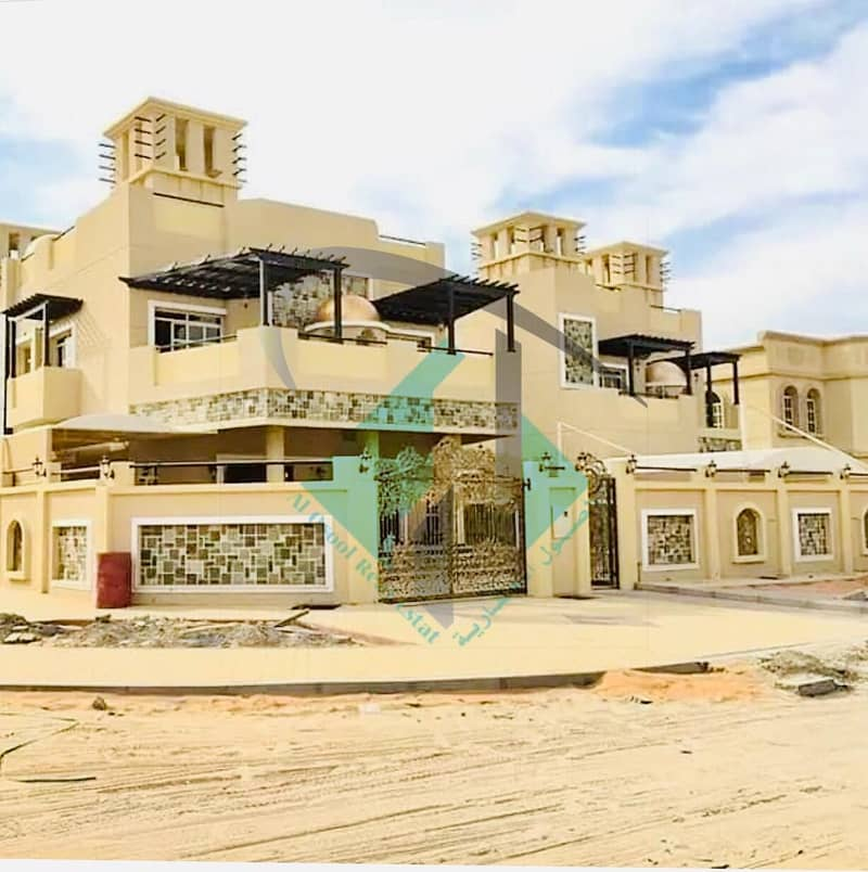 For sale villa in Ajman personal finishing magnificence Villa without down payment and monthly installments for a period of 25 years with a large banking leniency