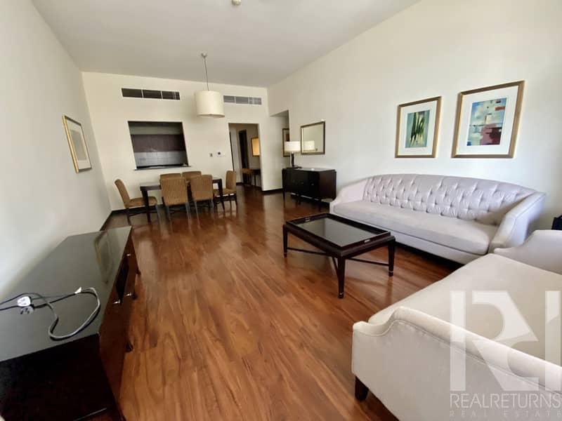 SPACIOUS 2 BR + MAIDS ROOM   FURNISHED / CHILLER FREE