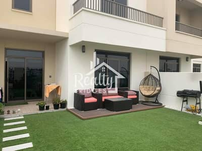 3 Bedroom Townhouse for Rent in Town Square, Dubai - 3 Bed + Maids - Type 6 Single Row - Private Garage & Garden