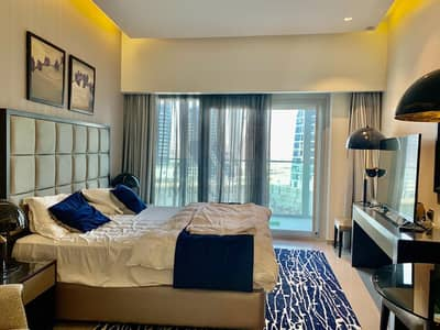 Studio for Rent in Business Bay, Dubai - Largest Studio | Canal View | Fully Furnished